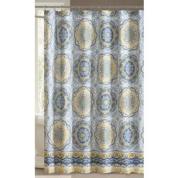Madison Park Tangiers Blue Shower Curtain
