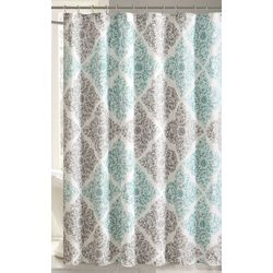 Madison Park Claire Aqua Shower Curtain
