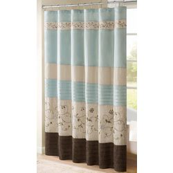 Madison Park Serene Blue Shower Curtain