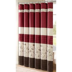 Madison Park Serene Red Shower Curtain