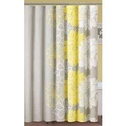 Madison Park Lola Yellow Shower Curtain