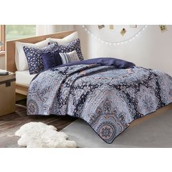 Intelligent Design Odette Reversible Coverlet Set