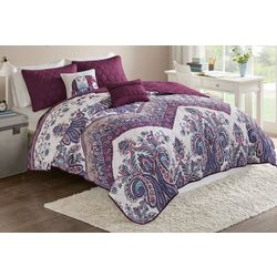 Intelligent Design Tulay Purple Coverlet Set