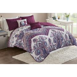 Tulay Purple Coverlet Set