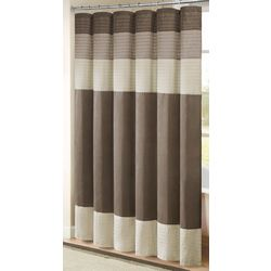 Madison Park Amherst Natural Shower Curtain