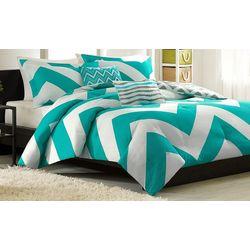 Mi Zone Libra Teal & White Comforter Set