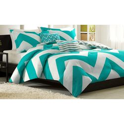 Mi Zone Libra Teal & White Comforter Set