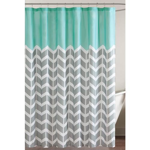 Intelligent Design Nadia Printed Shower Curtain