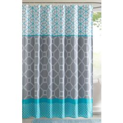Intelligent Design Clara Printed Shower Curtain