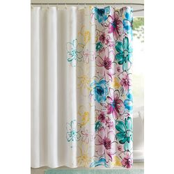 Intelligent Design Olivia Blue Shower Curtain