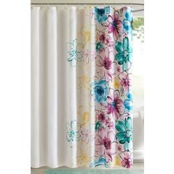Olivia Blue Shower Curtain