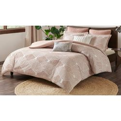 Ink & Ivy Ellipse Blush Cotton Jacquard Comforter Set