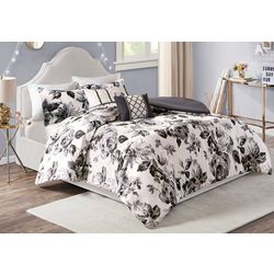 Intelligent Design Dorsey Floral Print Duvet Cover Set