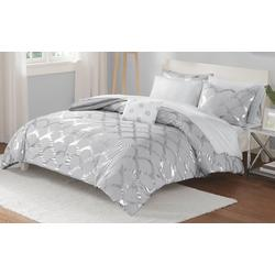 Lorna Grey Comforter & Sheet Set