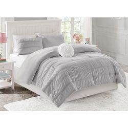 Mi Zone Bella Reversible Ruched Seersucker Comforter Set