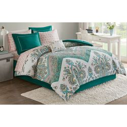 Intelligent Design Tulay Teal Comforter & Sheet Set