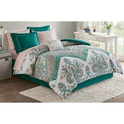 Intelligent Design Tulay Teal Comforter & Sheet Set