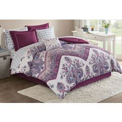 Intelligent Design Tulay Purple Comforter & Sheet Set