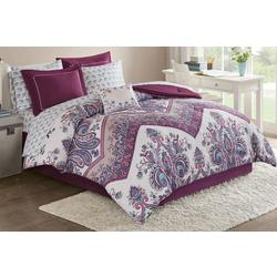 Tulay Purple Comforter & Sheet Set