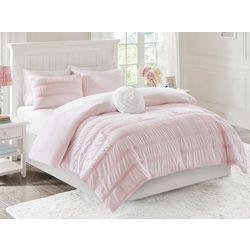Mi Zone Bella Reversible Ruched Seersucker Comforter Set