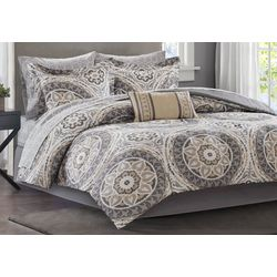 Madison Park Serenity Taupe Comforter & Sheet Set