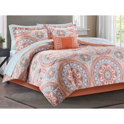 Madison Park Serenity Coral Comforter & Sheet Set