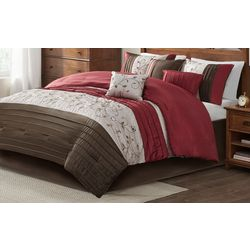 Madison Park Serene Red 7-pc. Comforter Set