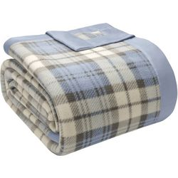 True North by Sleep Philosophy Plaid Micro Fleece Blanket