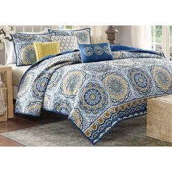 Madison Park Tangiers Blue 6-pc. Coverlet Set