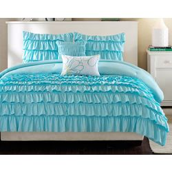 Intelligent Design Waterfall Blue Comforter Set