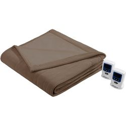 Beautyrest Knitted Micro Fleece Heated Blanket