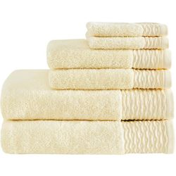 Madison Park Breeze 6-pc. Jacquard Zero Twist Towel Set