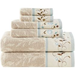 Madison Park Serene 6-pc. Cotton Jacquard Towel Set