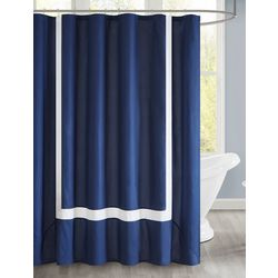 510 Design Carroll Pieced Border Shower Curtain