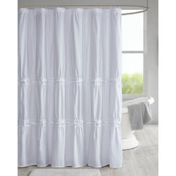 510 Design Ciera Solid Ruched Shower Curtain