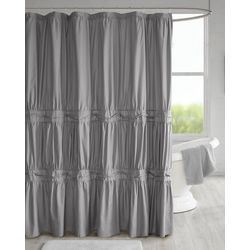 510 Design Ciera Solid Ruched Shower Curtain