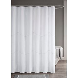 510 Design Codee Solid Decorative Stitched Shower Curtain