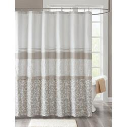 Ramsey Printed & Embroidered Shower Curtain