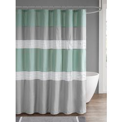 510 Design Tinsley Pieced & Pintucked Shower Curtain