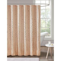 Intelligent Design Zoey Metallic Printed Shower Curtain