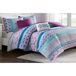 Intelligent Design Joni Purple Coverlet Set