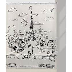 Creative Bath Paris Day Shower Curtain