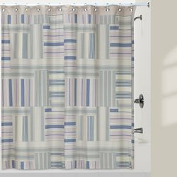Creative Bath Ticking Stripe Shower Curtain