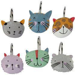 Kitty 12-pc. Shower Curtain Hooks