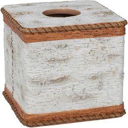 Creative Bath White Birch Tissue Box Cover