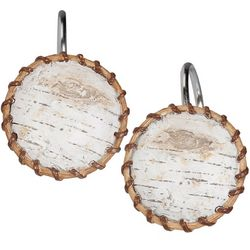 Creative Bath White Birch Shower Curtain Hooks