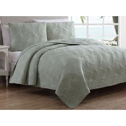 Estate Home Leaf Stitch Quilt Set