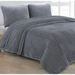 Estate Collection Sonoma Velvet Quilt Set