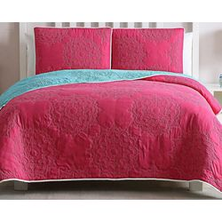 Kids Zone Stacy Reversible Quilt Set