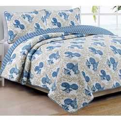 Coastal Design Tybee Reversible Quilt Set